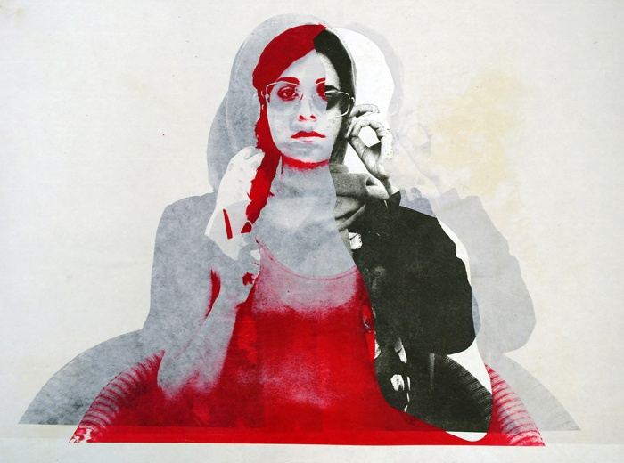 Marzieh.Mosavarzadeh.Neither Here, Nor There.Photo plate-lithography on rice paper and Chine-collé on Stonehenge paper.50 x 70 cm.2015. (2)