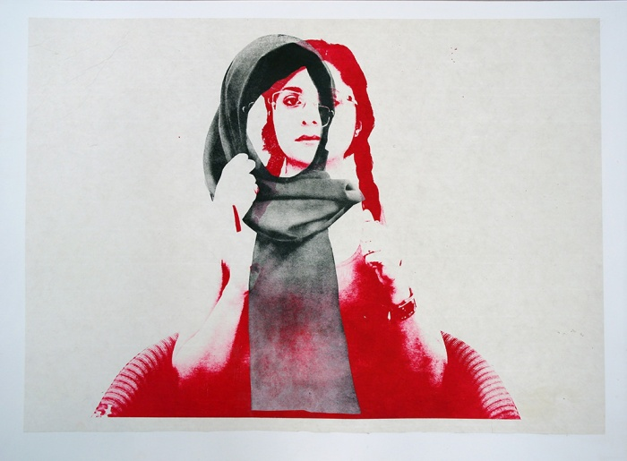 Marzieh.Mosavarzadeh.Neither Here, Nor There.Photo plate-lithography on rice paper and Chine-collé on Stonehenge paper.50 x 70 cm.2015. (3)